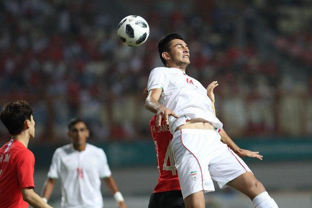 شکست تیم فوتبال امید ایران برابر کره جنوبی در نیمه اول