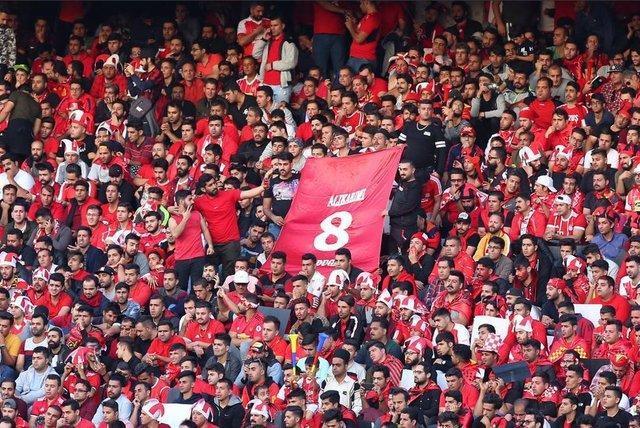 وقت کشی دروازه بان السد، تشویق ادامه دار طرفداران پرسپولیس بعد از گل نخست