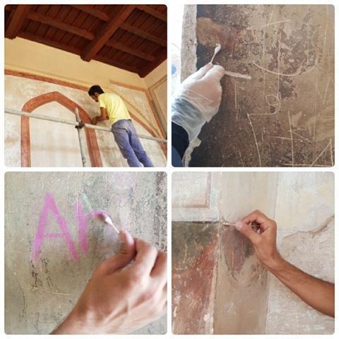 شروع عملیات حفاظت و مرمت راه پله های عمارت عالی قاپو