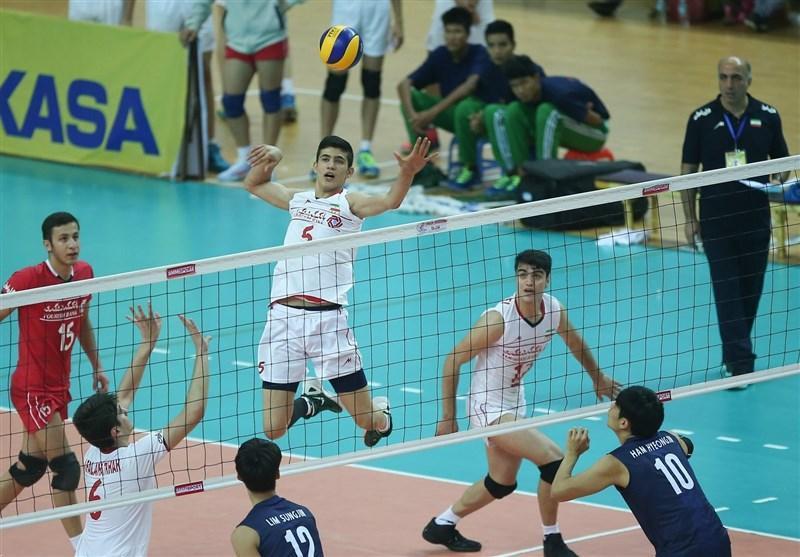تغییر ساعت دیدار تیم والیبال نوجوانان ایران با کلمبیا