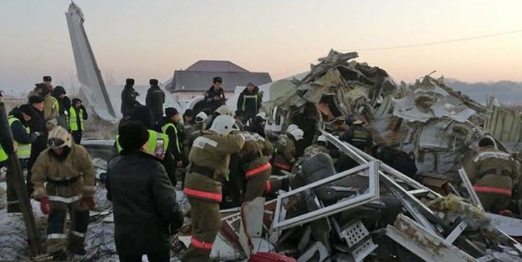 سقوط هواپیمای مسافربری در قزاقستان با 100 سرنشین