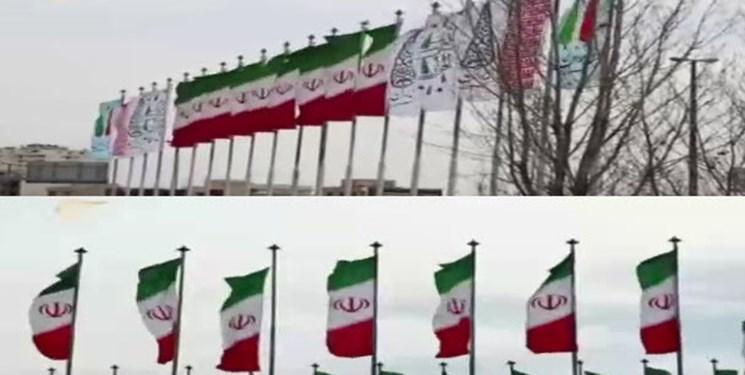 گزارش جالب المیادین درآستانه انتخابات، از اهتزاز پرچم ایران در سراسر تهران