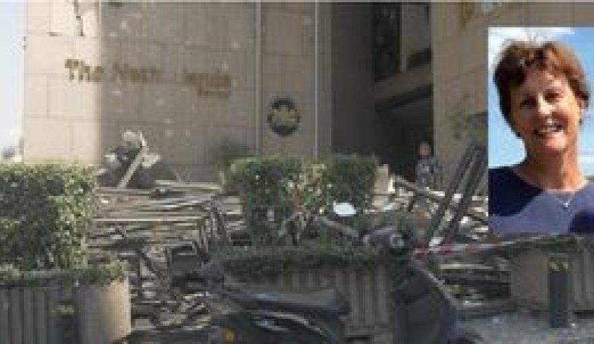 فیلمی وحشتناک از لحظه مجروح شدن همسر سفیر هلند در بیروت