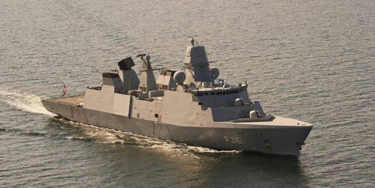 ناوچه دانمارکی برای پیوستن به ائتلاف دریایی اروپا وارد دریای مکران شد