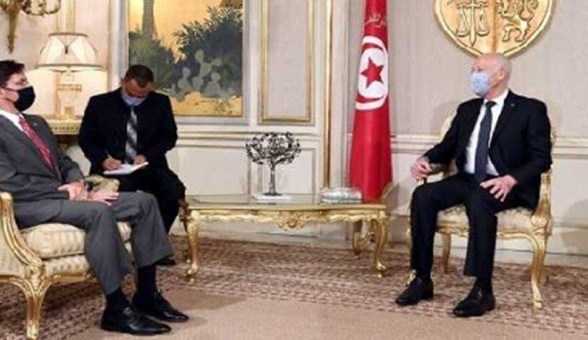 ملاقات وزیر دفاع آمریکا با رئیس جمهور تونس
