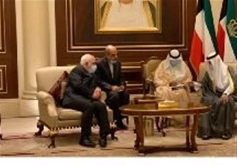 ظریف با امیر جدید کویت ملاقات کرد